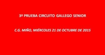 Aviso inscripción 3ª prueba Circuito Gallego Senior