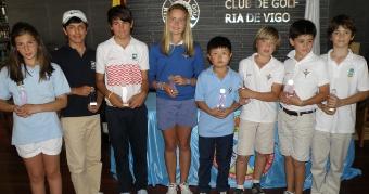 Los infantiles se enfrentan al exigente campo del Golf Ría de Vigo
