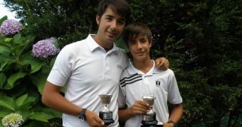 Jesús y Pablo Ouro Campeones de Galicia de Pitch&Putt