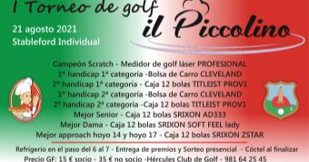 Torneo Il Piccolino Lounge Bar en el Hércules Club de Golf