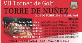 VII TORNEO DE GOLF TORRE DE NUÑEZ – 2 octubre 2021