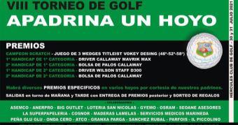 VIII TORNEO DE GOLF APADRINA UN HOYO – 30 y 31 de julio
